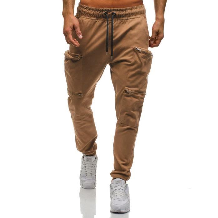 Pantalon Homme Camouflage Mode Élastique