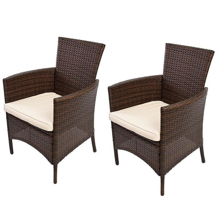 lot de 2 chaises de jardin en osier coloris br achat vente fauteuil jardin lot de 2. Black Bedroom Furniture Sets. Home Design Ideas