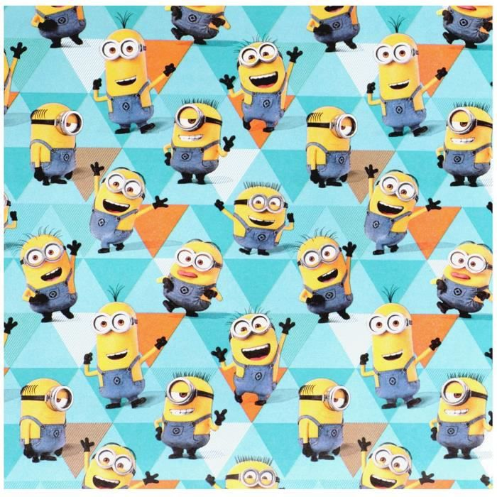 rouleau papier cadeau emballage disney les minions 200cm x 70cm bleu achat vente papier. Black Bedroom Furniture Sets. Home Design Ideas