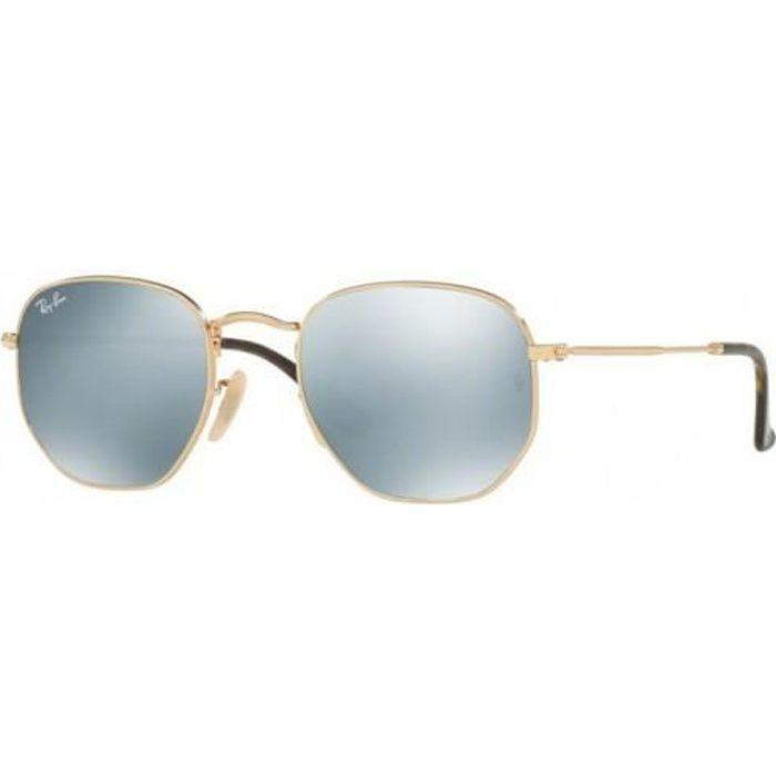 lunette de soleil homme effet miroir ray ban