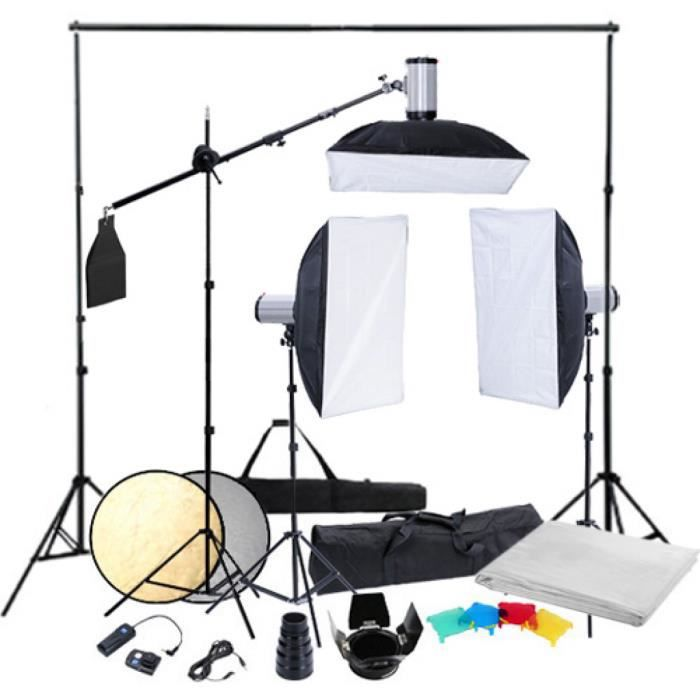 kit photo 3 softbox 50x70 fond r 233 flecteur achat vente kit studio photo cdiscount