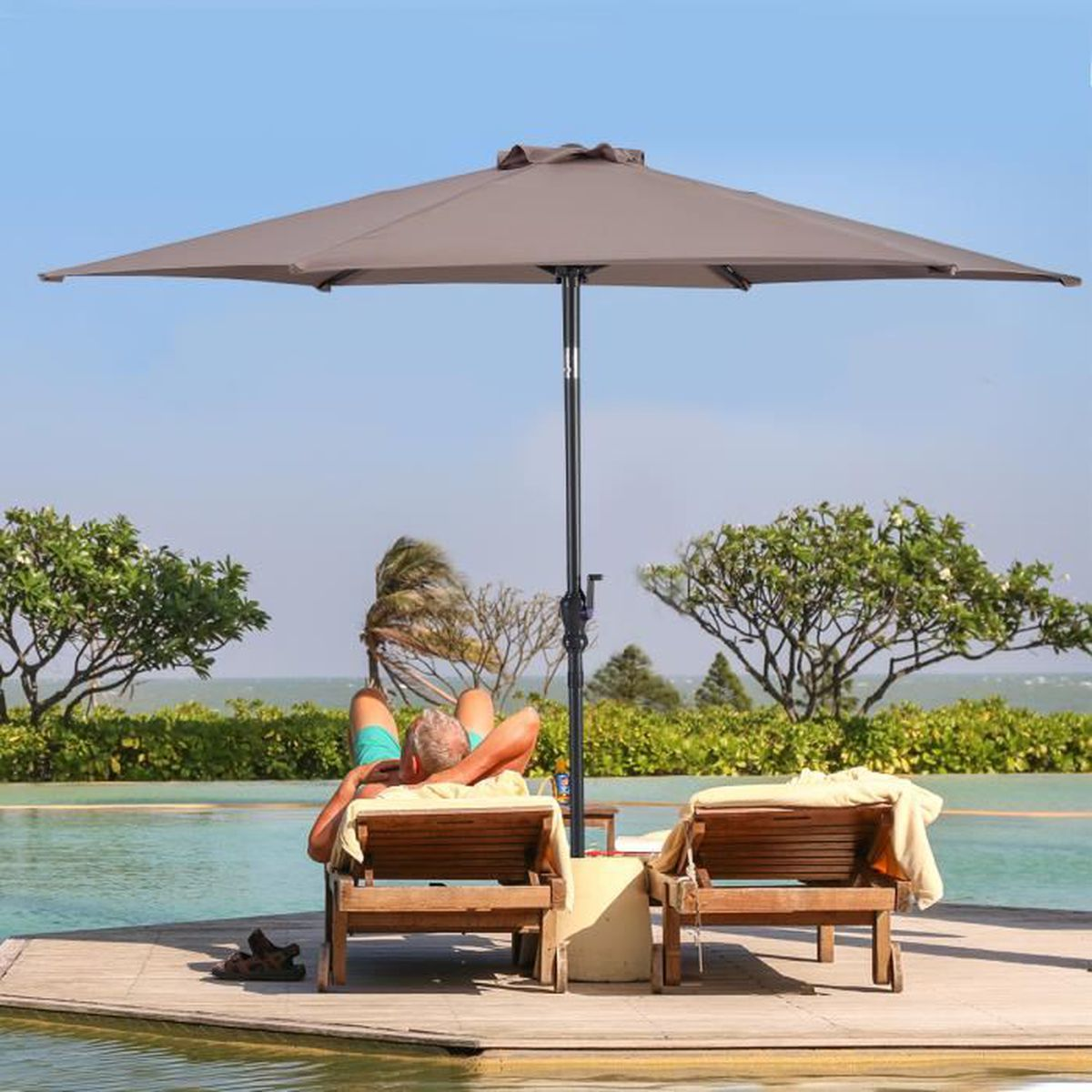 Parasol inclinable - Achat / Vente Parasol inclinable pas cher ...