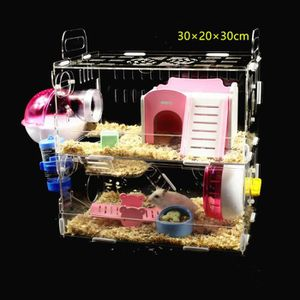 CAGE AST Cage Cristal double-points hamster  - Pour ron