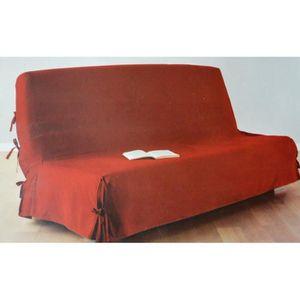 HOUSSE DE CANAPE Housse canapé clic-clac Rouge 140x200cm