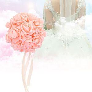 FLEUR ARTIFICIELLE Rose clair 32CM fournitures de mariage boule de fl