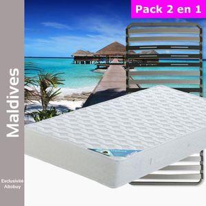 ENSEMBLE LITERIE Maldives - Pack Matelas + AltoZone 90x190