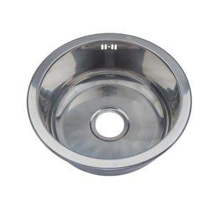 Evier rond inox achat vente evier rond inox pas cher for Evier encastrable inox 1 bac
