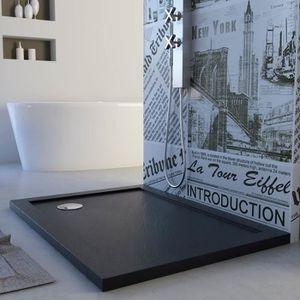 RECEVEUR DE DOUCHE Receveur de douche 80x100x4 cm rectangle acrylique