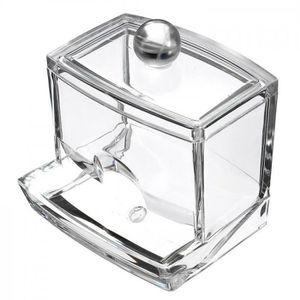 Bo/îte de rangement pour cotons-tiges En Plastique Transparent distributeur de cotons Bluelans avec couvercle claire taille unique