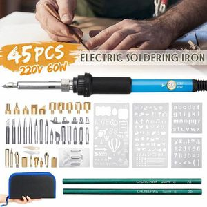 FER - POSTE A SOUDER ss-33-TEMPSA 45PCS 60W Kit Pyrogravure Bois Fer à