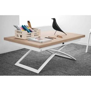 table basse relevable blanc - achat / vente table basse relevable