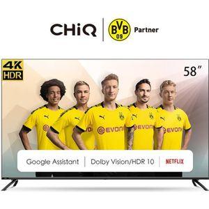 Téléviseur LED  CHiQ U58H7S, 58 Pouces(146cm), Android 9.0, Smart