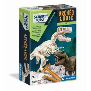 EXPÉRIENCE SCIENTIFIQUE CLEMENTONI Archéo Ludic - T-Rex Phosphorescent - S