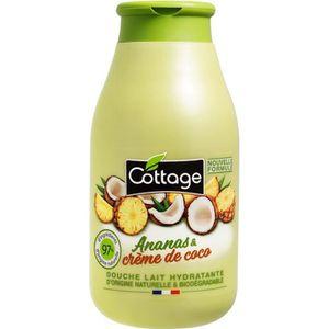 GEL - CRÈME DOUCHE COTTAGE Douche lait hydratante - Ananas et crème d
