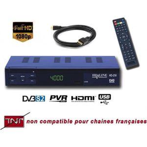 RÉCEPTEUR - DÉCODEUR   Décodeur satellite PERITEL HDMI HORS TNT FRANCAISE
