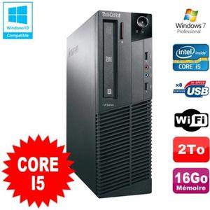 ORDI BUREAU RECONDITIONNÉ PC Lenovo Thinkcentre M81 SFF Core I5-2400 16Go 2T