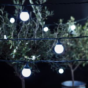 guirlande lumineuse exterieure jardin led globe achat vente pas cher. Black Bedroom Furniture Sets. Home Design Ideas
