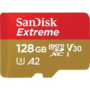 CARTE MÉMOIRE Sandisk 128GB Extreme microSDXC mémoire flash 128