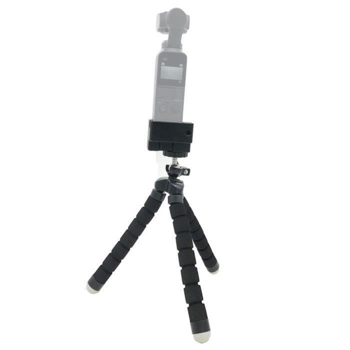 Support flexible trépied 1-4 support de montage à vis support de cardan pour DJI Osmo Pocket JOUET D'ACTIVITE Noir_YS1453