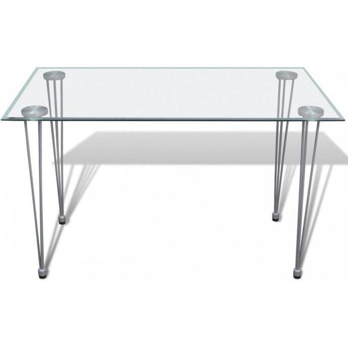 Tables de salle a manger et de cuisine Table transparente avec plateau en verre