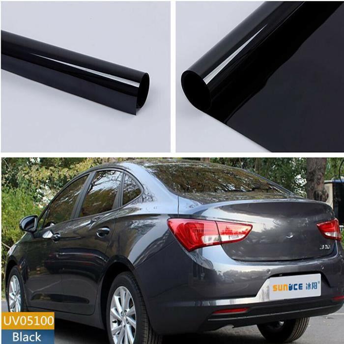 SUNICE-Film de vitre de voiture - Teinte 50x800cm VLT 5%, noir foncé, teinture de Film céramique pour la ma - Modèle: -