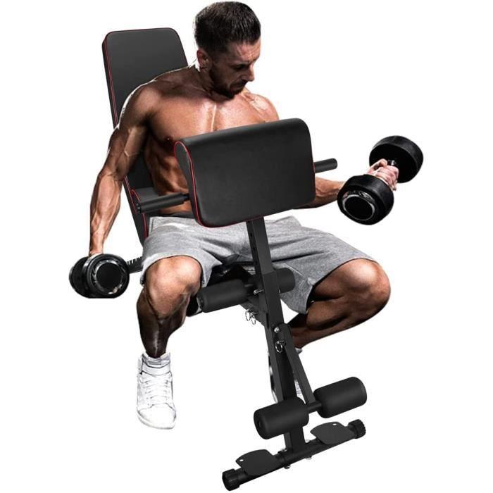 TOPQSC Banc de musculation pliable réglable Banc de musculation Banc de musculation à domicile Banc de musculation Banc de fitness p