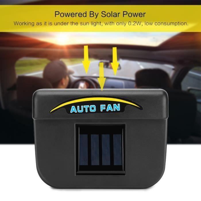 0,2W Énergie solaire Radiateur à air comprimé Refroidisseur automatique de vitesses de voiture Un ventilateur Avec bande de Pr10556