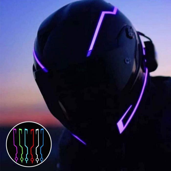 Bande Led pour casque de moto, lumière de conduite, barre de bricolage, réflecteur, Film de lumière froide, une paire-jaune