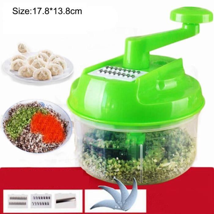 Hachoir manuel,Hachoir à ail, hachoir à légumes manuel, hachoir à carottes et à viande, rapide à la main, - Type Vegetable Cutter 1