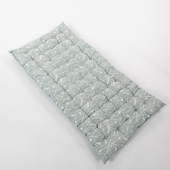 COTTON WOOD Coussin de palette - Souple futon - Coton - Imprimé Deep Graphik - 60x120x5 cm