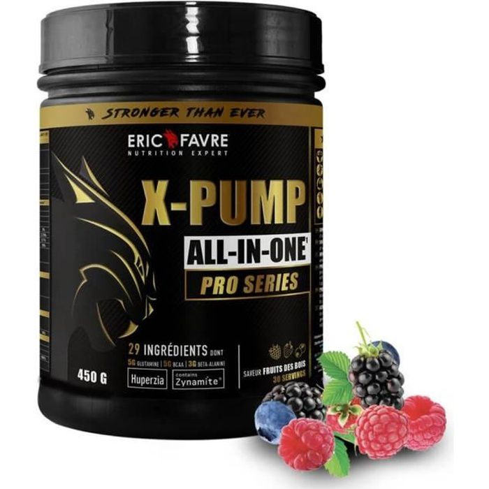 Eric Favre - X Pump - ALL IN ONE Pro Series - Endurance & Performance - Fruits des bois - 450g