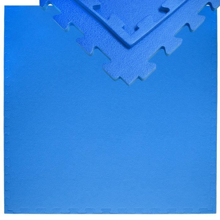 Tapis Puzzle de Fitness 90x90cm incl embouts 12mm Bleu