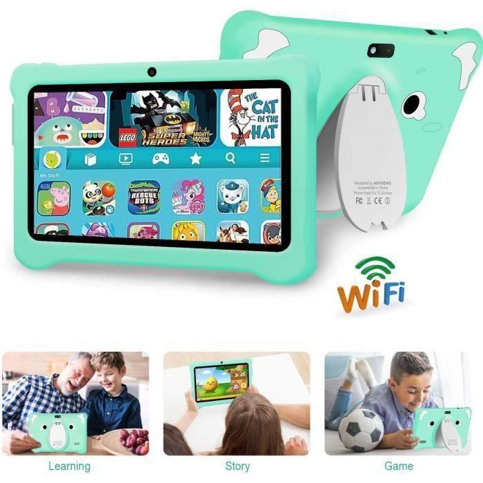 Tablette Enfant 7 Pouces Tablette pour Enfant Android 9.0, 3Go RAM +32Go ROM,Dual SIM, Jeux éducatifs-Tablette tactile Enfant
