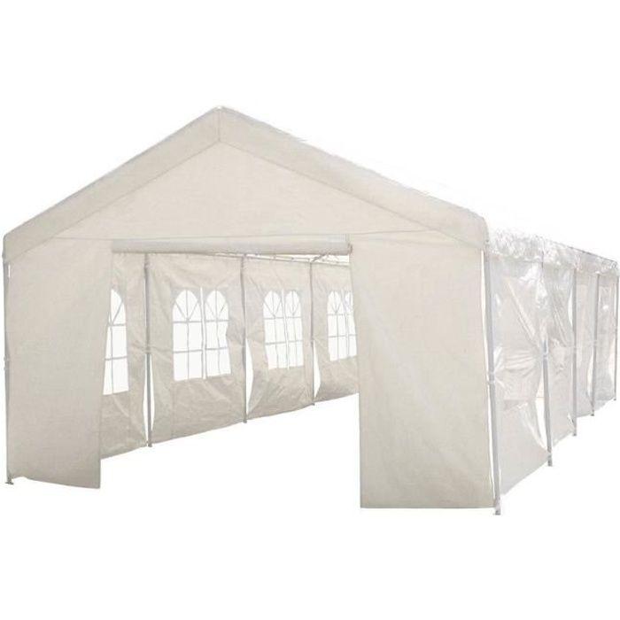 Tente de réception -Celia- en polyéthylène - 50m² - 5 x 10 x 2.9 m