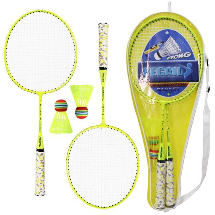 1 paire Ensemble de raquettes de badminton pour enfants avec balles badminton à 2 joueurs Jeu de sport en plein air intérieur-71