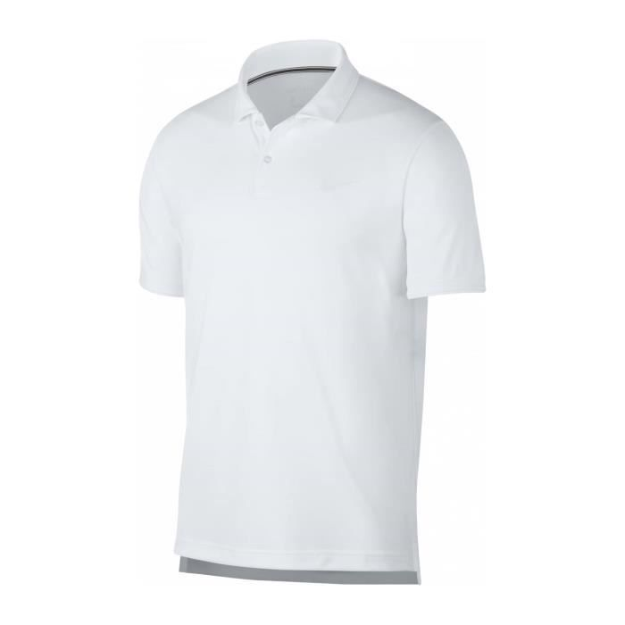 Nike Court Dry Hommes Haut tennis blanc