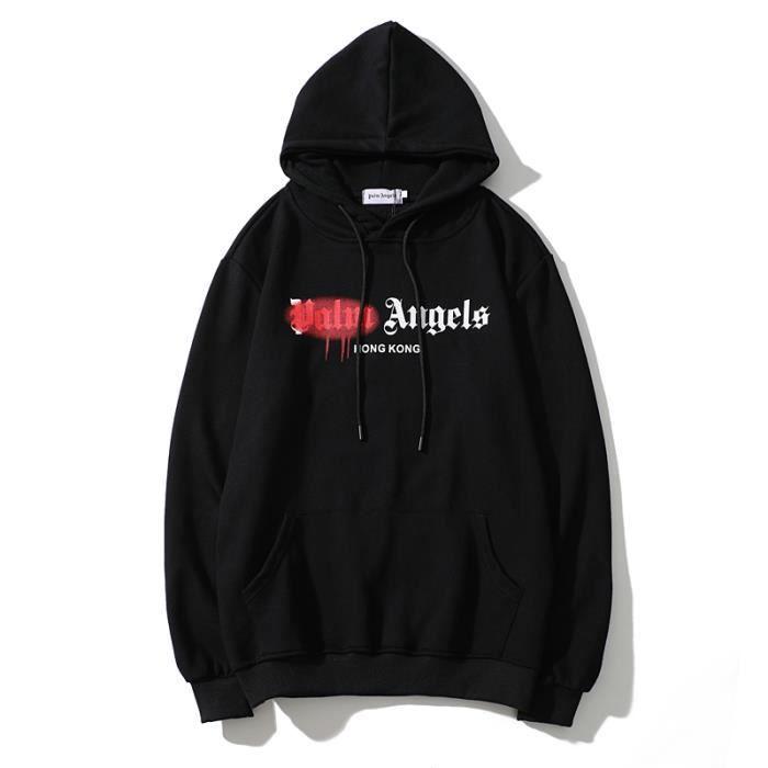 VUY-26 Hommes Femmes Sweatshirts à capuche avec lettres intégrales Palm Angel Veste de course à pied Chandail
