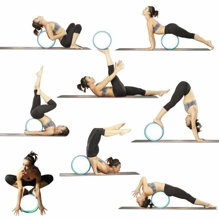 Cercle Yoga Roue de Yoga Fitness traction de corps Sports fitness Exercises intérieur max 100kg - 33*13cm