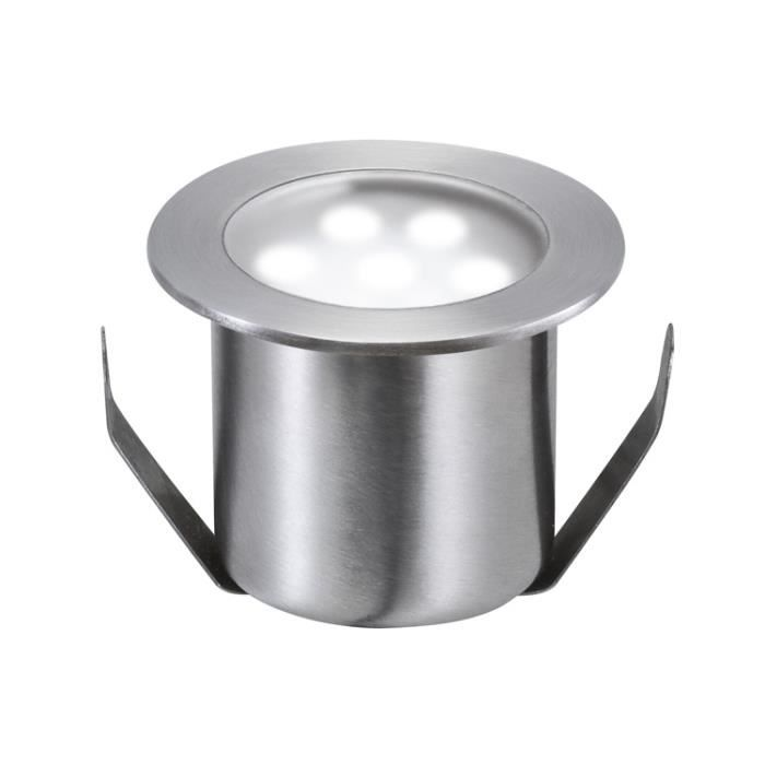 Paulmann 98868 encastré sol-kit de base Special Line Mini acier inox, rond, kit de 4