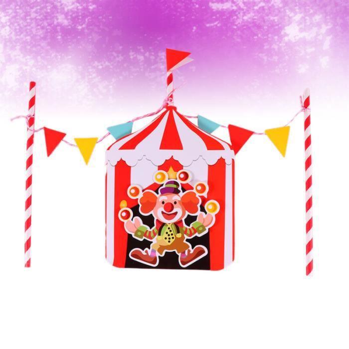 5 ensembles de décorations de gâteau à thème de cirque drôle de choix de de Clown drapeaux TAPIS D'EVEIL - AIRE D'EVEIL
