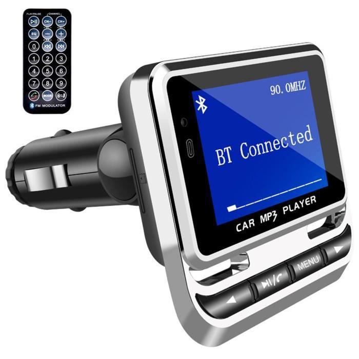 TD® Transmetteur FM Bluetooth Kit voiture lecteur MP3 Volant USB - SD MMC mains libres audio vidéo chanson musique télécommandée
