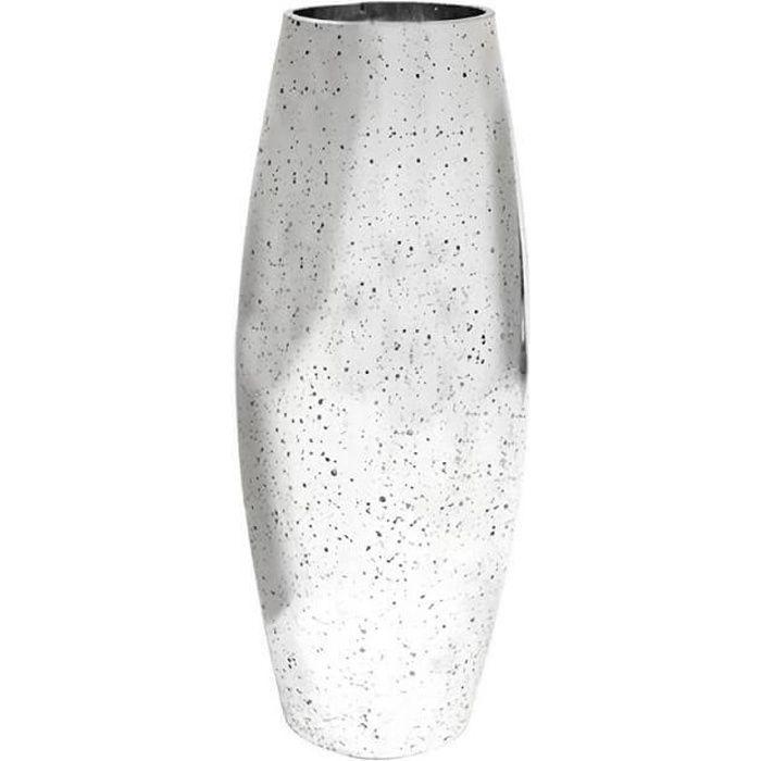 Vase haut métallisé argent 30cm (x1) REF/VER2027