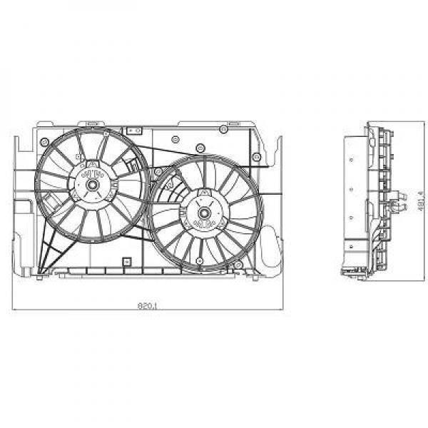Ventilateur refroidissement du moteur TOYOTA RAV 4 (A3) de 06 à 10 - OEM : 16711-28320 - 6687101