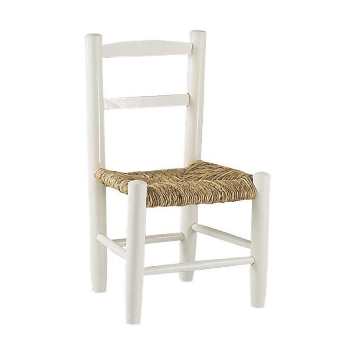 chaise enfant en bois laqu blanc achat vente chaise tabouret b b 2009946648688 cdiscount. Black Bedroom Furniture Sets. Home Design Ideas