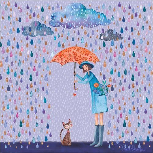Il Pleut, Kitty - Mila Marquis. - Achat / Vente affiche - poster ...