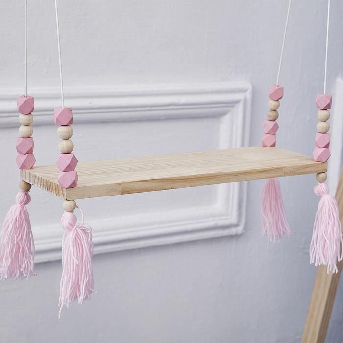 ETAGÈRE MURALE tenoens® Perles en bois Mur étagère de salle de br