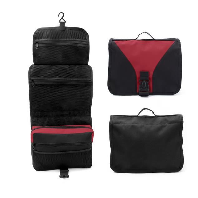 homme trousse de toilette sac de rangement voyage pochette maquillage bag rouge achat vente. Black Bedroom Furniture Sets. Home Design Ideas