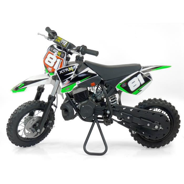 moto cross enfant 50cc 3 5cv 50 cc roues 10 10 verte pour initiation au cross d s 6 ans achat. Black Bedroom Furniture Sets. Home Design Ideas