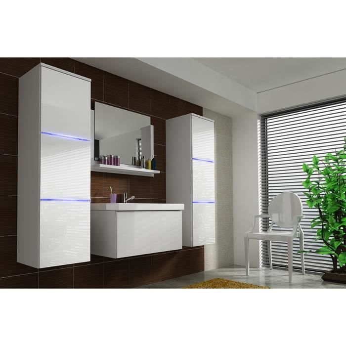 salle de bain modele lona white gloss achat vente salle de bain complete salle de bain. Black Bedroom Furniture Sets. Home Design Ideas