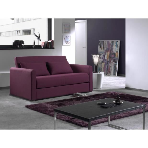 canap convertible savanna aubergine achat vente. Black Bedroom Furniture Sets. Home Design Ideas